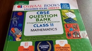 Oswaal Class 11 Maths Question Bank for 2021 EXAM Oswaal Class 11 Mathematics Question Bank