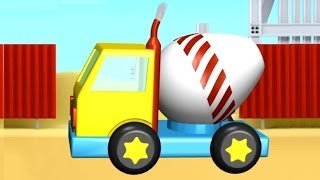 App Demos For Kids: 3d Cement Truck Construction: Ipad, Android App Review (시멘트 및 콘크리트 믹서 트럭)