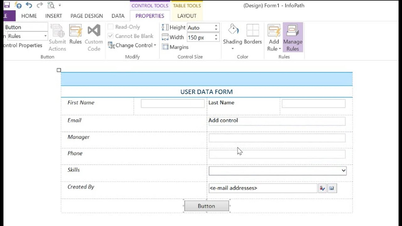 How to create form in infopath 2013 form for SharePoint - how to edits infopath form