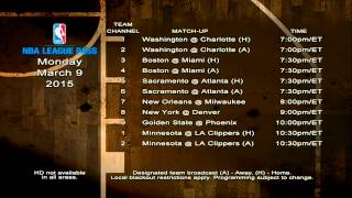 NBA League Pass Music - March 9th, 2015