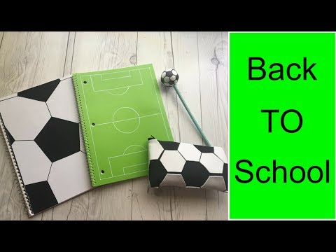 DIY school supplies for soccer lovers
