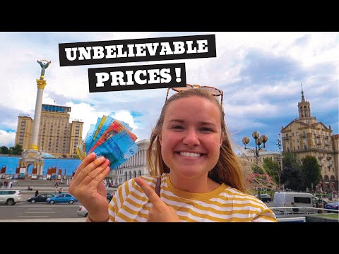 How Expensive Is UKRAINE?   One Day In Kyiv!