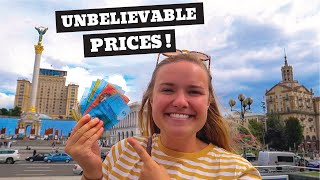 How Expensive is UKRAINE? | One day in Kyiv!