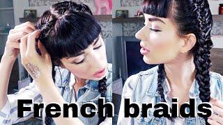 КАК ЗАПЛЕСТИ КОЛОСОК САМОЙ СЕБЕ | French Braid Your Own Hair