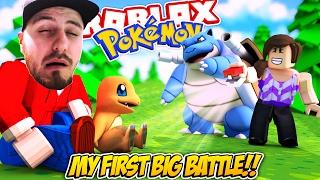 Roblox Adventures - Pokemon Brick Bronze - MY FIRST BIG BATTLE!!!