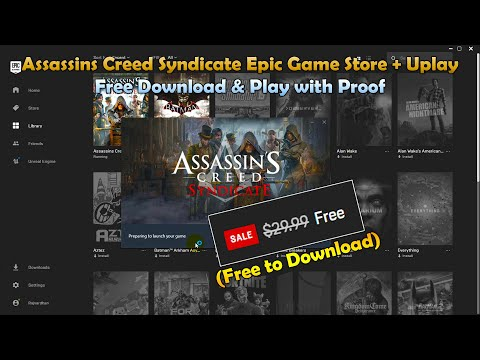 Assassins Creed Syndicate Epic Game Store + Uplay Download & Play (Free To Download)