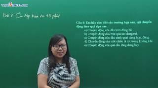 Ôn tập kiểm tra giữa học kỳ I - Vật Lí 8 - Cô giáo : Nguyễn Thị Loan