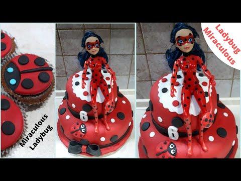 birthday-cake-ladybug-miraculous-decoration---Τούρτα-Λέιντι-Μπακ-με-ζαχαρόπαστα- -alena-and-little