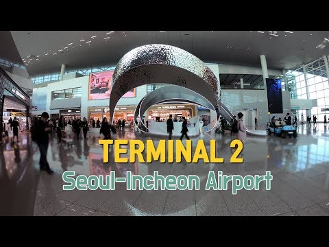Seoul-Incheon Airport's new Terminal 2 (ICN) - From Landside to the Boarding gate (Walking tour)