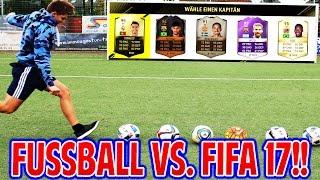 FUßBALL CHALLENGES vs. FIFA 17 CHALLENGES! ⚽😲⚽ FUSSBALL FUT DRAFT (DEUTSCH) - FIFAGAMING vs. BRUDER