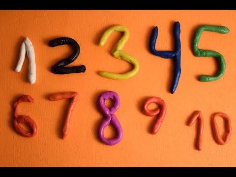 Учим цифры и цвета, лепим из пластилина