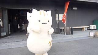千葉県君津市にある「房総 四季の蔵」の前でダンスするぴーにゃっつです。