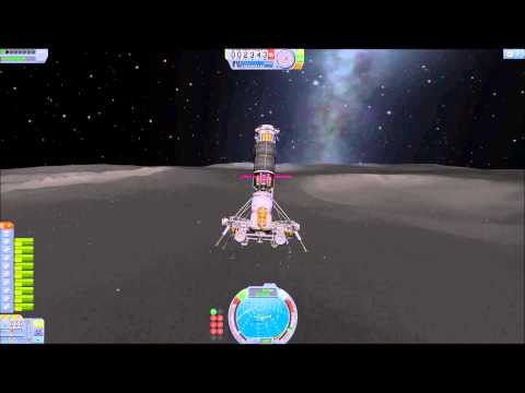 KSP Ore Drill rig - orbit, landing, docking, drilling and processing into fuel 1
