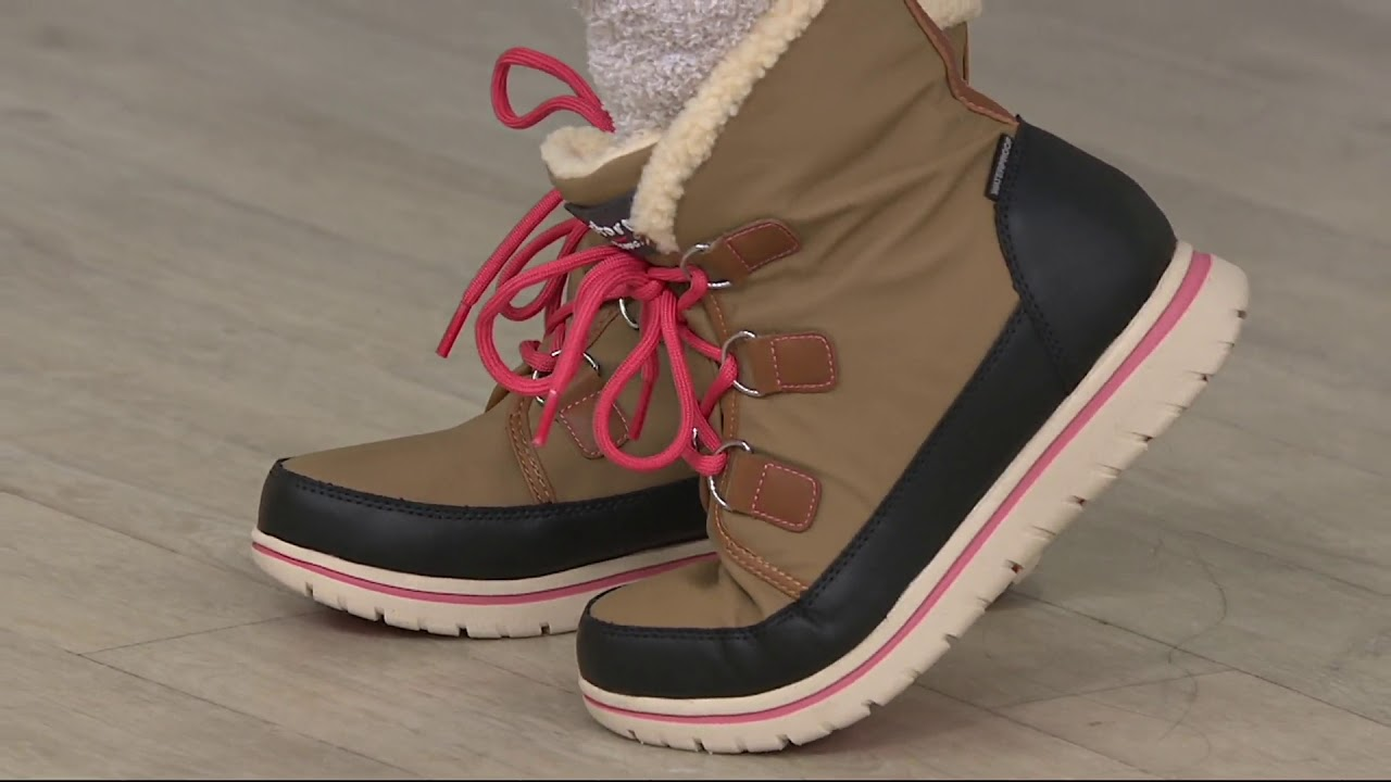 7b5448a5 Cougar Waterproof Lace-up Ankle Boots - Sadie on QVC - YouTube
