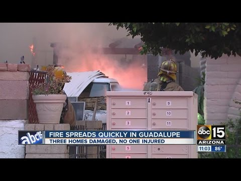 Three houses burn in Guadalupe fire
