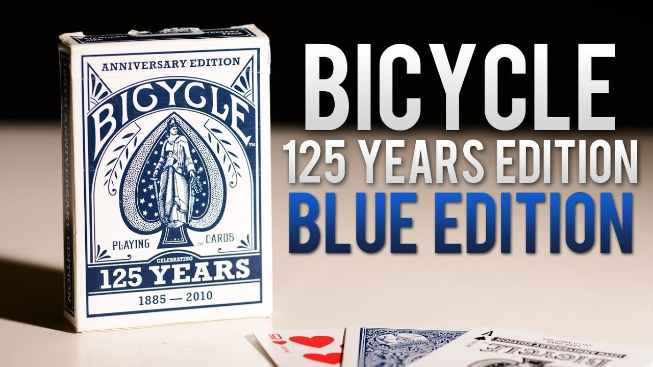 bicycle 125 anniversary year cards