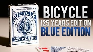 Deck Review - Bicycle 125 Year Anniversary Blue Edition Deck Playing Cards