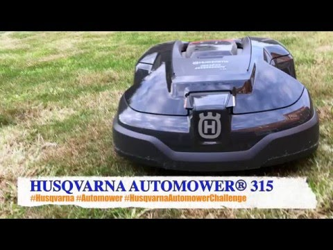 husqvarna automower 315 installed and cutting youtube. Black Bedroom Furniture Sets. Home Design Ideas