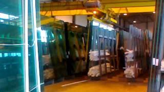 Производство стеклопакетов(Большие листы стекла до нарезки их роботом,производство автоматизированное на 80%, 2012-01-04T16:28:45.000Z)