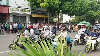 Tai nạn giao thông ở Thị trấn Phùng - Đan Phượng -  Hà Nội