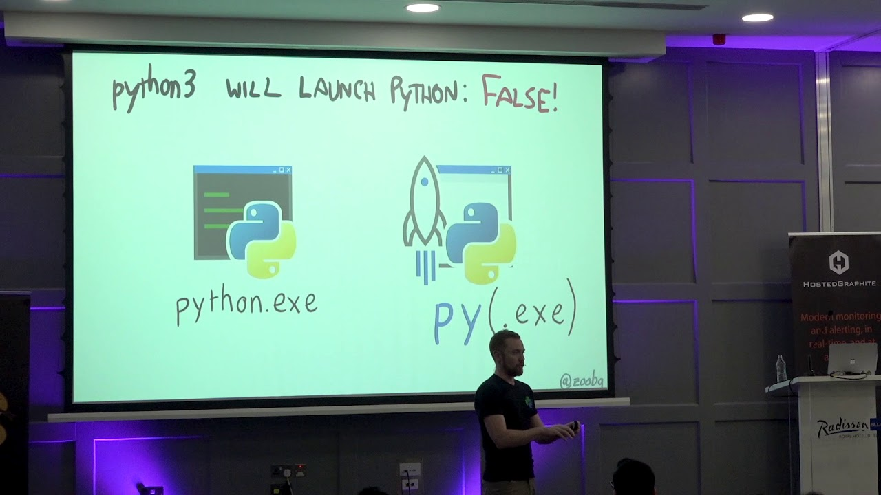Image from PyCon Ireland 2018: Python on Windows is Okay, Actually -Steve Dower