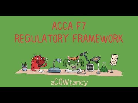 ACCA F7 Online Course: Regulatory Framework (Video 1)