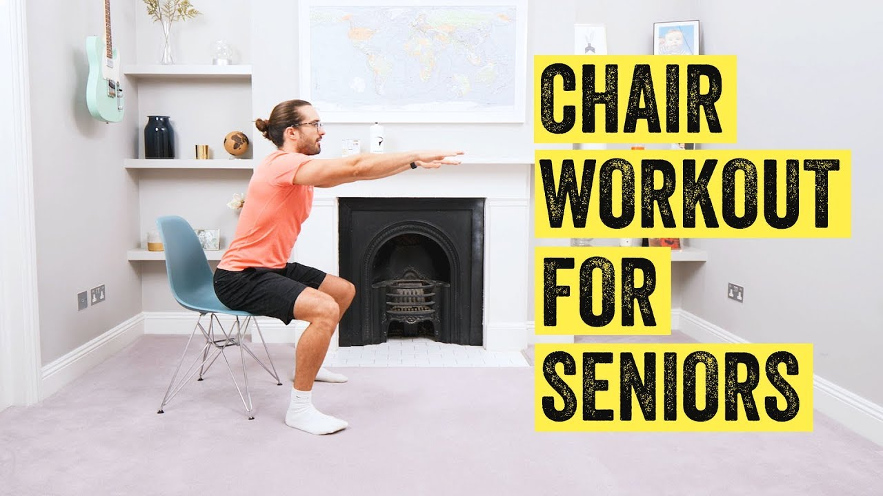10 Minute Home Chair Workout For Seniors The Body Coach Tv Youtube