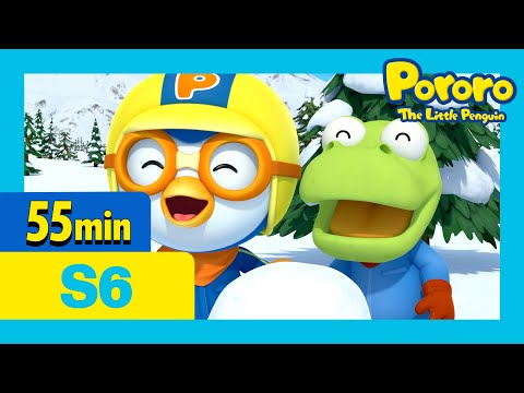 Super Eddy's Super Fiasco! and more (55mins) | Pororo the little penguin | Season 6