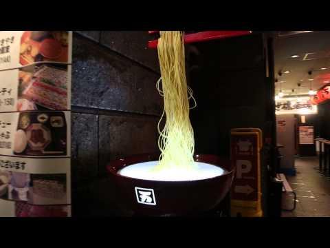 Dancing noodles in Tokyo