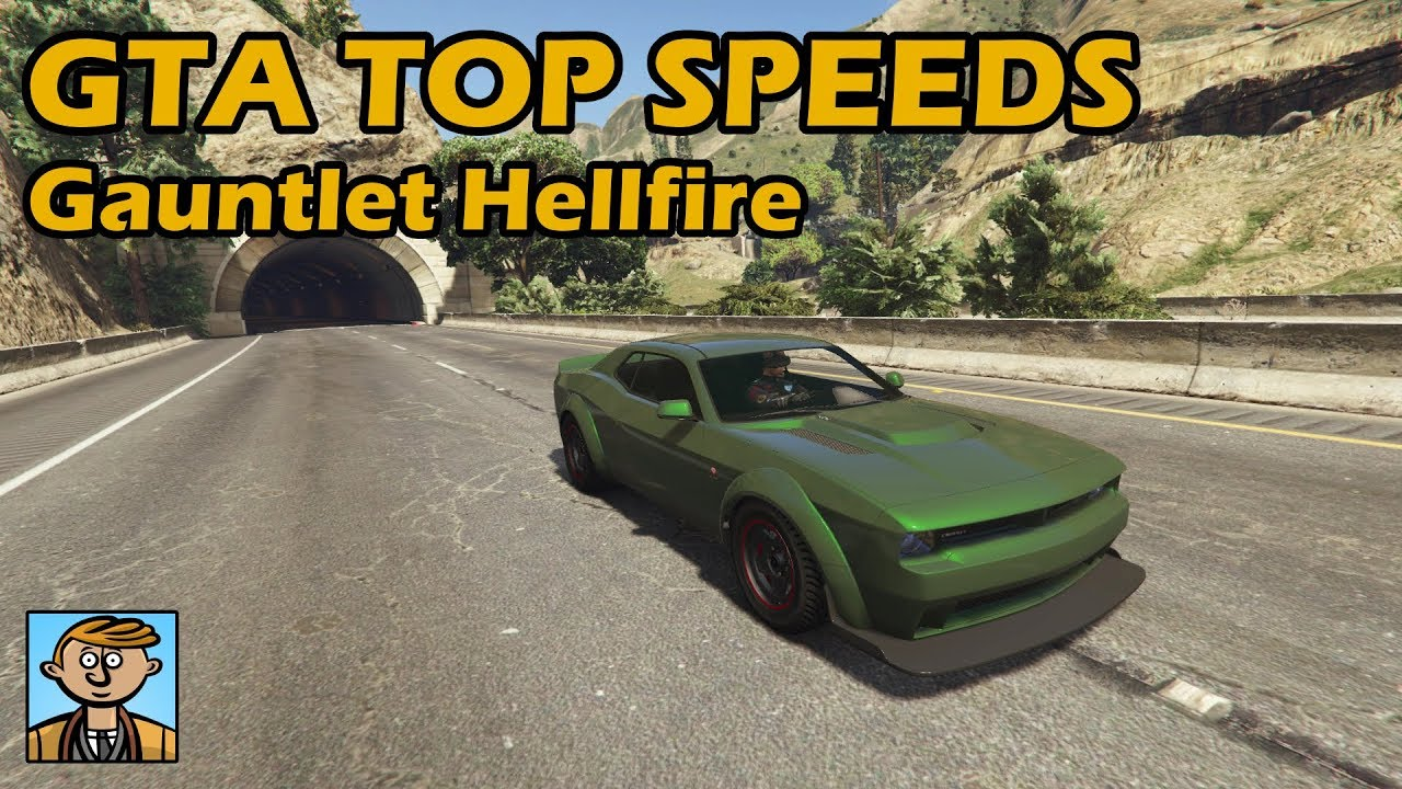 Fastest Muscle Cars (Gauntlet Hellfire) - GTA 5 Best Fully Upgraded Cars  Top Speed Countdown