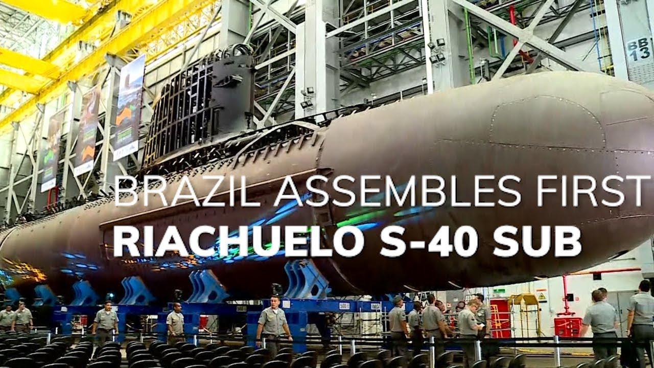 b11150ad8 Brazil s First Riachuelo S-40 Submarine - YouTube