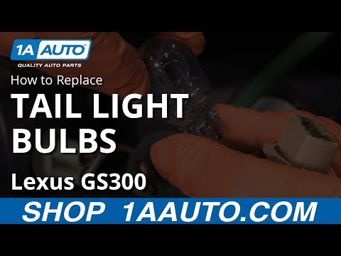How to Replace Tail Light Bulbs 97-05 Lexus GS300