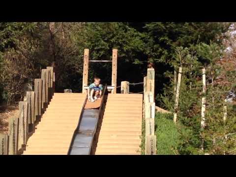 Slide Surfing on a Super Long Slide
