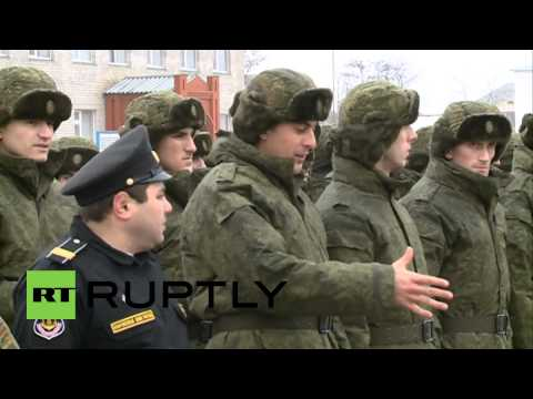 Russia: Watch Chechen recruits enlist in Russian Army for fi
