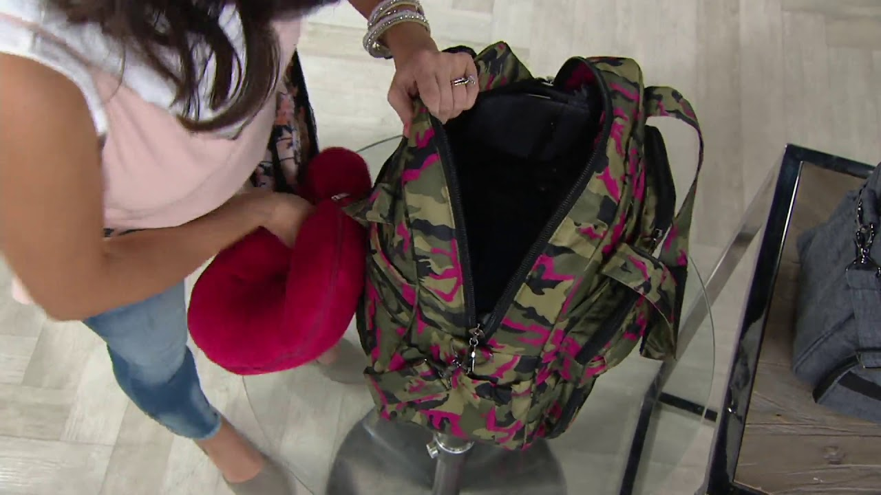67b54060b Lug Quilted RFID North/South Tote - Puddle Jumper SE on QVC - YouTube