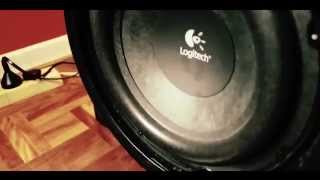 removing the grill on a logitech z 5500 subwoofer