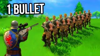 Fortnite - How Many People Can You Kill With 1 Bullet?