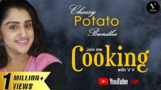 Cheesy Potato Bundles | Live | Cook with VV | Vanitha Vijaykumar & Jovika Vijaykumar