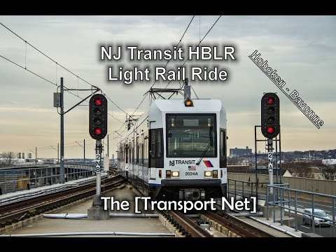 NJ Transit Hudson-Bergen Light Rail Train Ride (Hoboken to Bayonne, NJ)