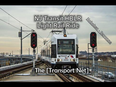 NJ Transit Hudson-Bergen Light Rail Train Ride (Hoboken to Bayonne, NJ)