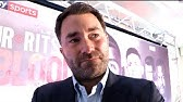 EMOTIONAL EDDIE HEARN ON PASSING OF PATRICK DAY / SAUDI VISA ISSUE & SLAMS SPENCE FOR DRINK DRIVING