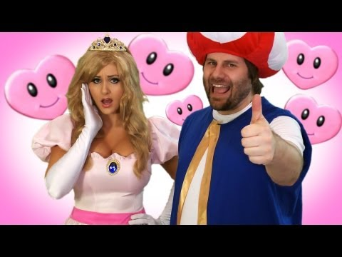 Toad & Peach Super Mario - Valentine's Day Video Card   Screen Team