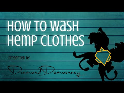 How to WASH HEMP CLOTHES