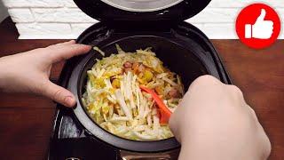 От этой Капусты с Картошкой в мультиварке оторваться невозможно Гениальный обед ужин за копейки