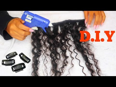 D.I.Y FASTEST CLIP-IN HAIR EXTENSIONS! | Ft. Unice Hair