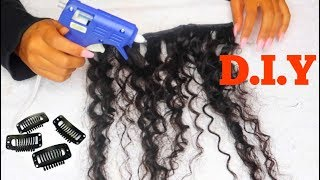 D.I.Y FASTEST CLIP-IN HAIR EXTENSIONS!   Ft. Unice Hair
