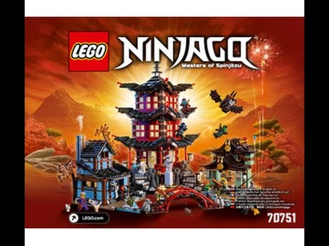 LEGO Super Heroes 70751 Храм аэро-джитсу. Инструкция по сборке