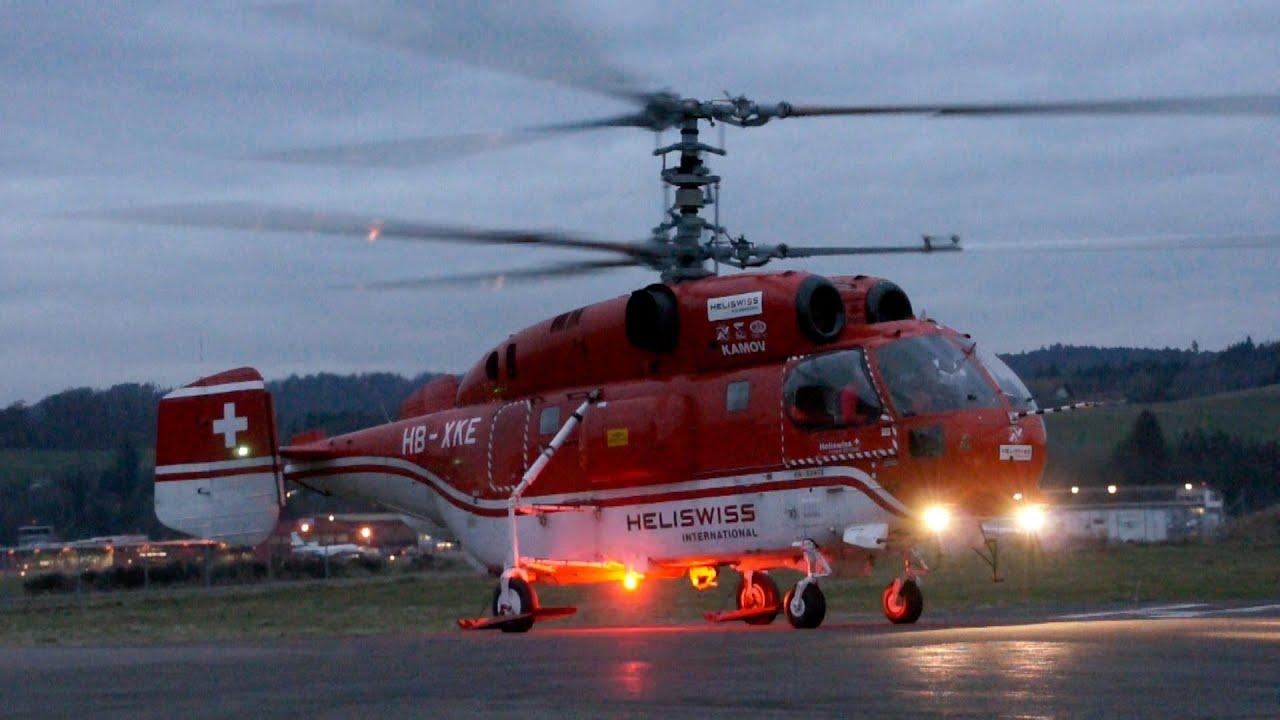 Elicottero Ka 32 : Kamov ka heliswiss startup take off landing youtube
