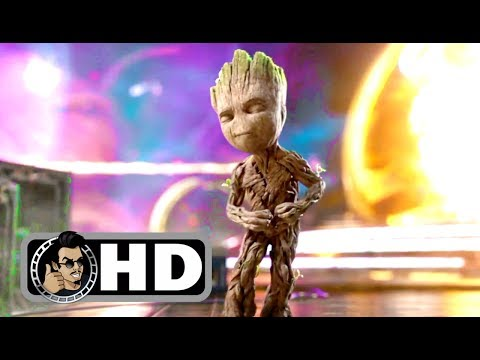GUARDIANS OF THE GALAXY 2 Opening Baby Groot Dancing Movie Clip (2017) Superhero Movie HD