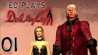 Meeting Trish   Ed Plays Devil May Cry #1   PS3
